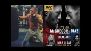 UFC 196: Conor McGregor hitting the heavy bag