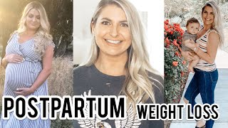 POSTPARTUM | LOSING BABY WEIGHT | HOW I LOST 55 POUNDS | C-SECTION, BREASTFEEDING AND WORKING OUT.
