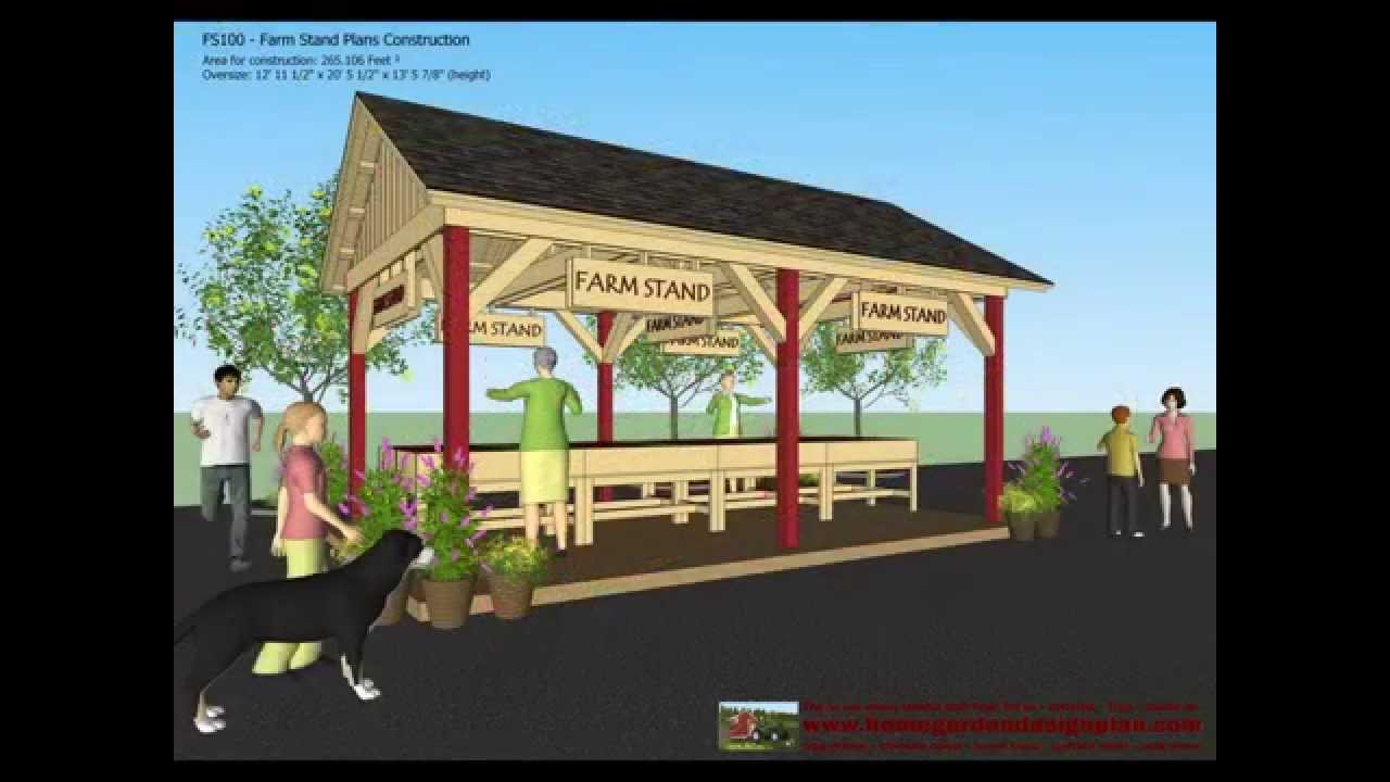 Fs100 Farm Stand Plans Construction Farm Stand Design