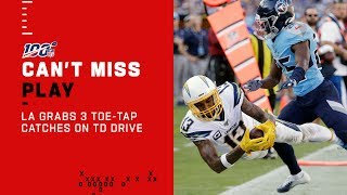 Chargers Haul In 3 Toe-Tap Catches En Route to the End Zone