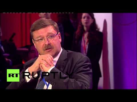 Belgium: NATO's Stoltenberg clashes with Russia's Kosachev over troops in Ukraine