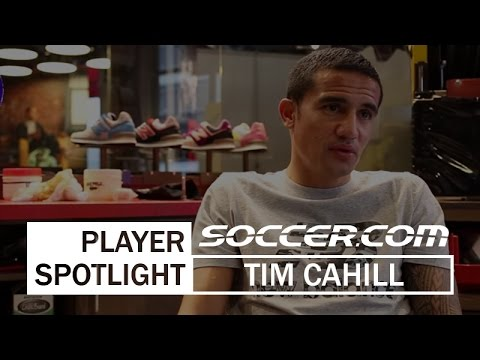 Tim Cahill talks comfort at the New Balance soccer launch