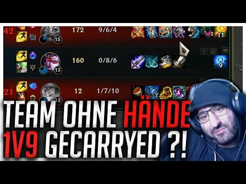 TEAM OHNE HÄNDE 1v9 GECARRIED?! Stream Highlights [League of Legends]