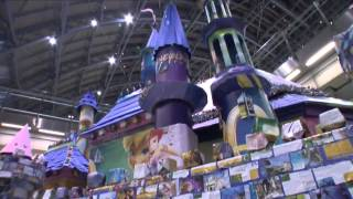Origami Disney Castle At St Pancras International, London