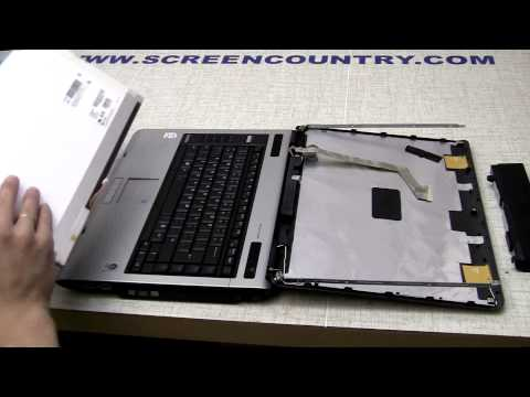 Laptop screen replacement (How to replace notebook LCD) [Toshiba A100]