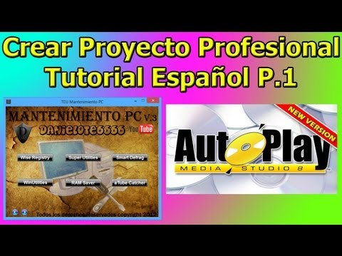 Crear Proyecto Profesional en Autoplay Media Studio. 1/2