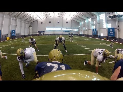 goPro Helmet Cam on Pitt Quarterback Tom Savage