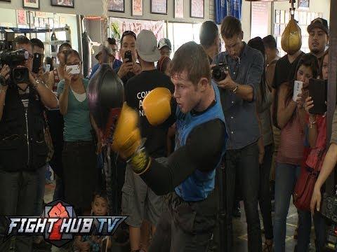 Canelo vs Lara Canelo Alvarez media workout highlights