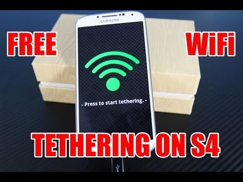 How To Get FREE WiFi Tether on Samsung Galaxy S4 - AT&T SGH-I337 4.2.2 Hotspot
