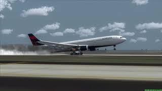 DELTA A330 Engine Fire Landing at Atlanta
