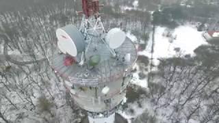 Vysílač Hády Brno pohledem DJI Phantom 3 Advanced - detailně