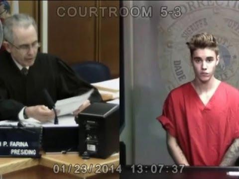 Justin Bieber arraigned for drunk driving, resisting arrest