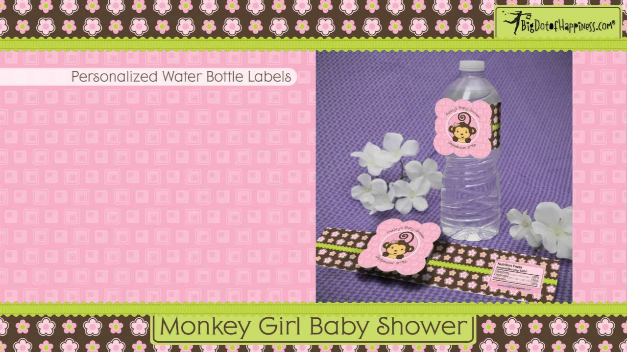 Baby Girl Monkey Baby Shower Invitations with perfect invitations ideas