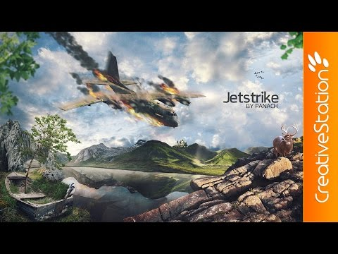 JetStrike - Speed art (#Photoshop) | CreativeStation
