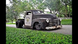 "Ratrod Patina One of a Kind Dually Chevy Truck ""The Sheriff"""