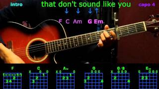that don't sound like you lee brice guitar chords