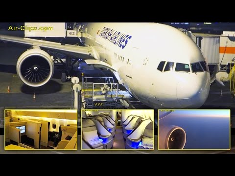Turkish/ Jet Airways Boeing 777-300 Business Class Istanbul-Bangkok! [AirClips full flight series]