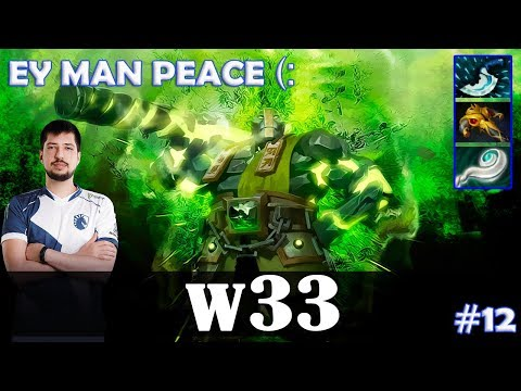 w33 - Earth Spirit Roaming | EY MAN PEACE (: | Dota 2 Pro MMR Gameplay #12