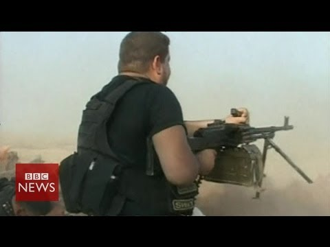 On the frontline with Shia's Badr Army in Iraq - BBC News