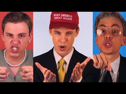 Trump vs Hillary vs Bernie: POLITICLASH RAP BATTLE