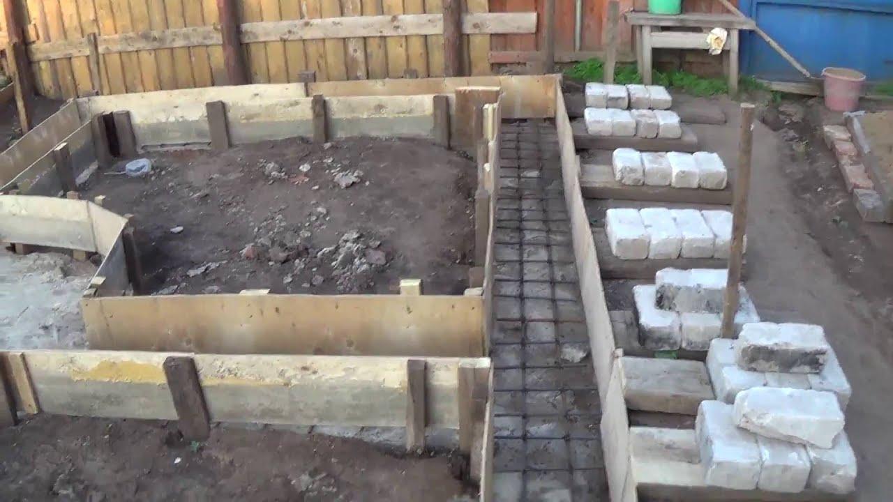 Как сделать фундамент для бани 3 4