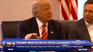MUST WATCH: Donald Trump Meets with Tech Leaders (FNN)