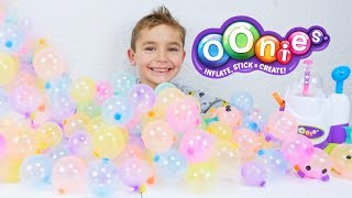 CRASH TEST :  MACHINE À OONIES - Learn Colors With Oonies Balloons