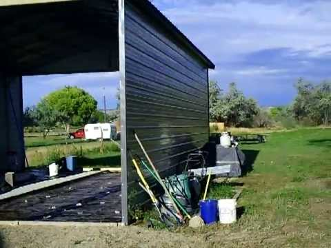 Steel Shed House Option 24x36 By Lamar Youtube