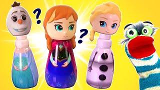 Fun with Disney Princesses Olaf  Tiana Cinderella Toys