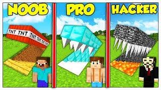 TRAPPOLA SEGRETA NOOB CONTRO PRO CONTRO HACKER! - Minecraft ITA