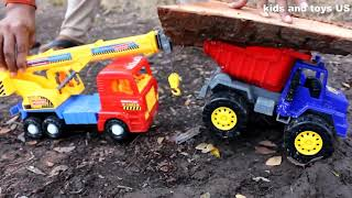 Car truck Cars Animation   Trucks for children   Construction Cartoon kids and toys US 2019