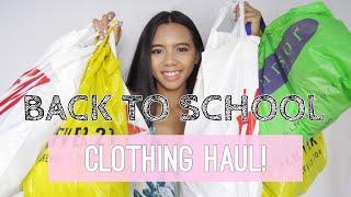 BACK TO SCHOOL CLOTHING HAUL   2018