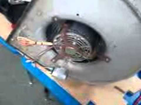 Replacing a Blower Motor w/wheel & capacitor.