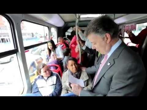 Recorrido del Presidente Juan Manuel Santos en Transmilenio, en Bogotá - 1° de diciembre de 2014