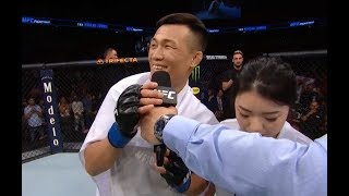 UFC Greenville: The Korean Zombie Octagon Interview