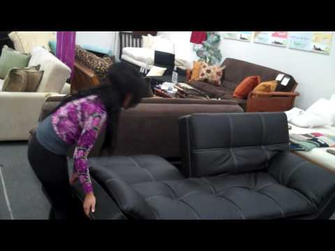 The Futon Shop - Matrix Sofa Bed Demo