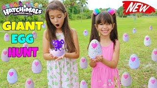 GIANT SURPRISE EGG HUNT for Hatchimals CollEGGtibles Hatching Surprise Blind Bag Baby Animal Eggs