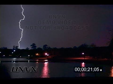 4/16/2006 Virginia Beach, VA Overnight Lightning Video