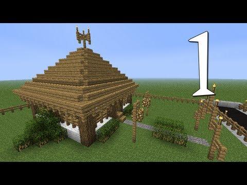 Tutoriais Minecraft: Como Construir uma Casa Japonesa 1 2
