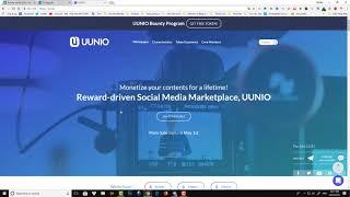 [Review] Dự án Uunio . Kiếm tiền đơn giản qua việc đăng tải nội dung