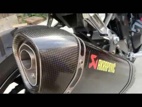Official Kawasaki Ninja 300 Akrapovic Exhaust First Install