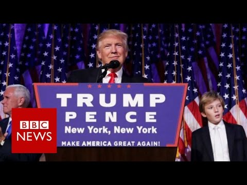 Donald Trump: 'I will be president for all Americans' BBC News