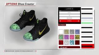 "NBA 2K18 Shoe Creator - Nike Kyrie 3 ""Shamrock"""