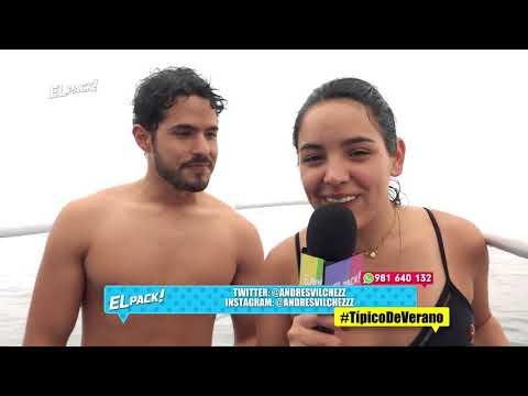 El Pack: VALERIA Y ANDRES VILCHEZ NADARON CON LOS LOBOS MARINOS - ENE 24 - 2/4 | Willax