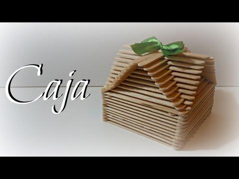 Torre eiffel con palitos de madera - Manualidades con cajas de madera ...