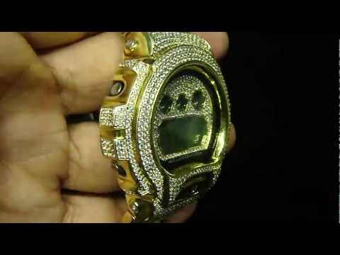 Casio Stainless Steel Custom Lab Diamond G Shock By Mr Chris Da Jeweler ( Video No : CW4639)