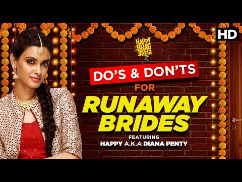 Do's & Don'ts For A Runaway Bride | Happy Bhag Jayegi | Diana Penty