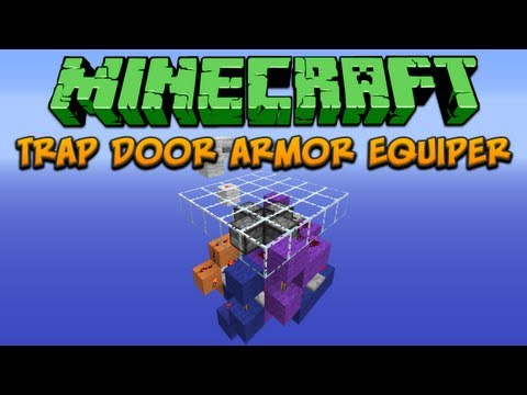 Minecraft: Trap Door Armor Equiper Tutorial