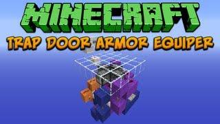 Minecraft: Trap Door Armor Equiper Tutorial