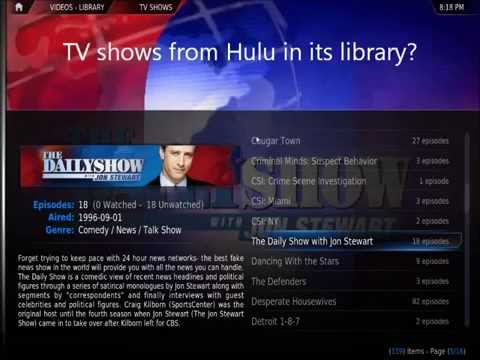 What if XBMC could add Hulu. Netflix. content from plugins to the